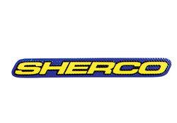 STICKER SHERCO 100 mm BLUE