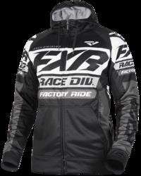 FXR RACE DIVISION TECH HOODIE BLACK/WHITE