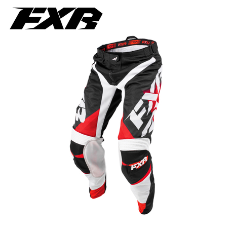 FXR Mission Air MX Pant Red Fade/White