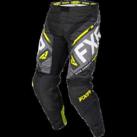 FXR Clutch Off-road Pants Black/Char/HiVis/Lt Grey