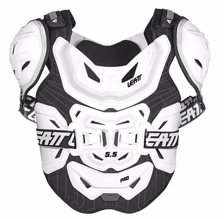 LEATT 2019 CHEST PROTECTOR 5.5 PRO HD WHITE