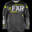 FXR Clutch Offroad Jersey Black/Char/HiVis/Lt Grey